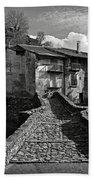 An Old Spanish Town Puente De Montanana Bath Towel
