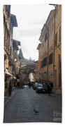 An Old Street In Assisi Italy  Bath Towel