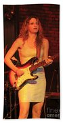 Guitarist Ana Popovic Bath Towel