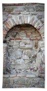Ancient Bricked Up Window  Bath Towel