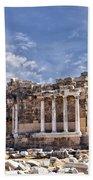 Ancient Ruins In Side Turkey Bath Towel