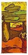 Ancient Sand Painting Bath Towel