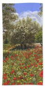 Andalucian Poppies Bath Towel