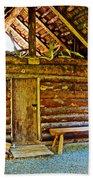 Andrew Berg's Homestead Cabin At Kenai National Wildlife Refuge In Soldotna-alaska Bath Towel