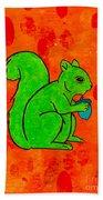 Andy's Squirrel Green Bath Towel