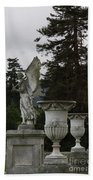Angel And Garden Urns Bath Towel