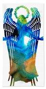 Angel Of Light - Spiritual Art Painting Bath Towel