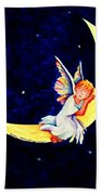 Angel On The Moon Bath Towel