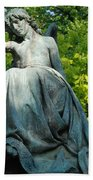Angel Statue Bath Towel