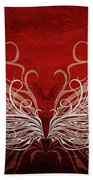 Angel Wings Crimson Bath Towel