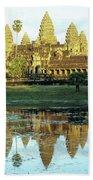 Angkor Wat Reflections 01 Bath Towel