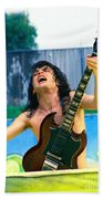 Angus Young Of A C D C At Day On The Green Monsters Of Rock  7-21-79  Bath Towel