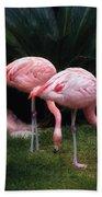 Animal - Flamingo - A Set Of Flamingoes Bath Towel