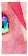 Anime Girl Eyes Red Bath Towel