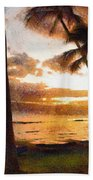 Another Maui Sunset - Pastel Bath Towel
