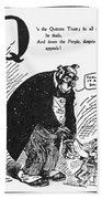 Anti-trust Cartoon, 1902 Bath Towel
