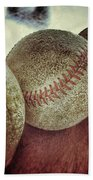 Antique Baseballs Still Life Bath Towel