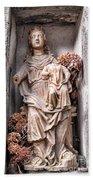 Antique Blessed Virgin Statue Bath Towel