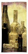 Antique Bottles From The Past Bath Towel