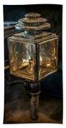 Antique Carriage Lamp Bath Towel
