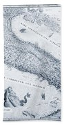 Antique Italy Map 1573 Bath Towel