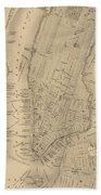 Antique Manhattan Map Bath Towel