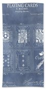 Antique Playing Cards Bath Towel