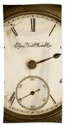 Antique Pocket Watch Bath Towel