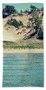 Antique Snapshot Series - Dunes On Lake Michigan Bath Towel