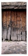 Antique Wood Door Damaged Bath Towel