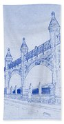 Antwerp Railway Bridge Blueprint Hand Towel