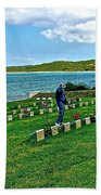 Anzak Cemetery Along The Dardenelles In Gallipolii-turkey Bath Towel