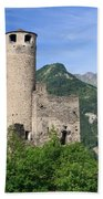 Aosta Valley - Chatelard Ruins Bath Towel