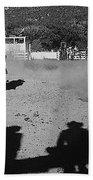 Apache Roping Cow Labor Day Rodeo White River Arizona 1969 Bath Towel