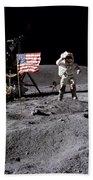 Apollo 16 Lunar Landing Astronaut Young Bath Towel