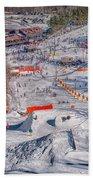Appalachian Mountain Ski Resort Near Blowing Rock Bath Towel