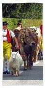 Appenzell Parade Of Cows Bath Towel