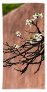 Apple Blossom Branch Bath Towel
