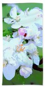 Apple Blossoms In The Spring - Painting Like Bath Towel
