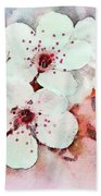 Apple Blossoms Pink - Digital Paint Bath Towel