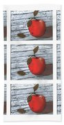 Apple Collage Bath Towel