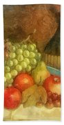 Apples And Grapes Bath Towel