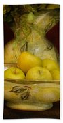 Apples Pears And Tulips Bath Towel