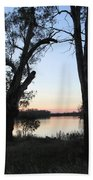 Approaching Sunset Silhouettes Bath Towel