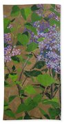 April Lilacs Bath Towel