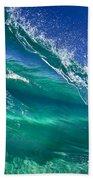 Aqua Blade Bath Towel by Sean Davey