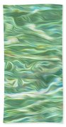 Aqua Green Water Art 2 Bath Towel