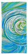 Aqua Seashell Bath Towel