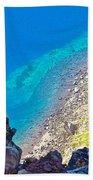 Aquamarine Shoreline At North Junction Of Crater Lake In Crater Lake National Park-oregon Bath Towel