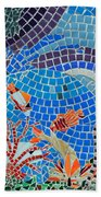 Aquatic Mosaic Tile Art Hand Towel